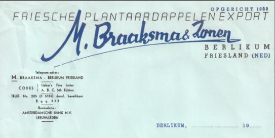 BRAAKSMA BRIEVEHAAD